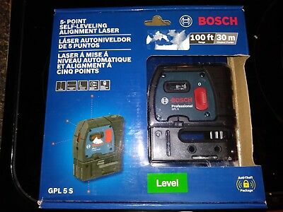 Bosch Professional Gpl5S 5-Point Self Leveling Alignment Laser (Brand New)