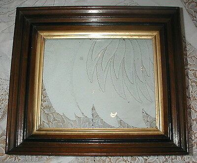 """Large Vintage Heavy Wood Gold Gilt Multi Layer Picture Frame  14"""" x 16"""" Antique"""