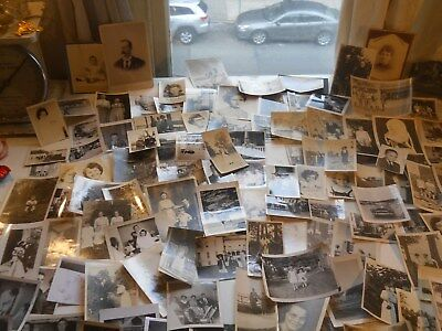 Old Photos Lot @ 125 BW Vintage BLACK & WHITE Photographs Snapshots antique Nice