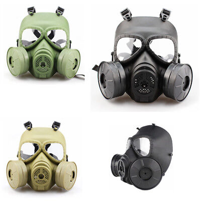 Gas Mask Double Filter CS Perspiration Dust Outdoor Activities Face Guard Gift
