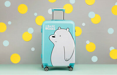 """We Bare Bears Ice Bear Carrier Kids Bags Grizzly Panda Travel 24"""" Gift School"""