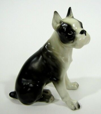 Vintage Boxer Figurine Ceramic Dog Figure occupied Japan 4 Inches Tall # 3302