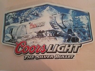 Coors Light Silver Bullet Metal Sign New