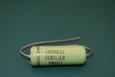 Cornell Dubilier Green .1 uF 600 V Audio Tone Guitar Capacitor Tested