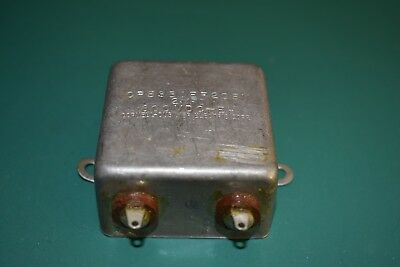 Cornell Dubilier 2 uF 600 Vdc Bathtub Oil Can NOS Capacitor Tested NOS