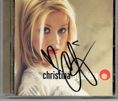 Autographed Christina Aguilera CD Signed in black sharpie