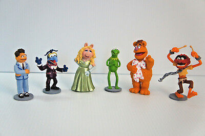 Jim Henson Muppet Characters Set of 6 Figurines, Cake Toppers, Disney Toy Lot