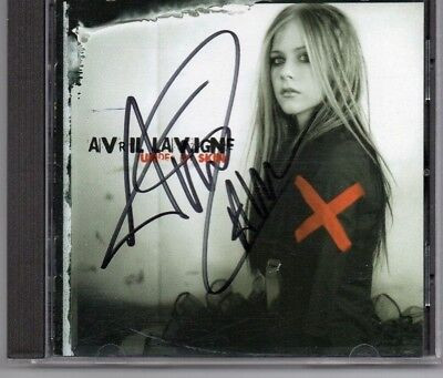 Autographed Avril Lavigne CD Signed in black sharpie