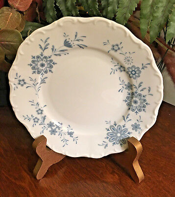 Set of 4 Christina Porcelain Seltmann Weiden BAVARIAN BLUE Bread & Butter Dishes