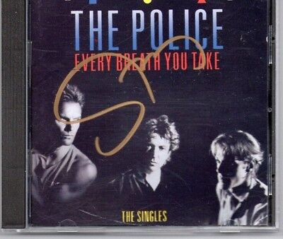 Autographed Sting CD Signed in gold sharpie Police