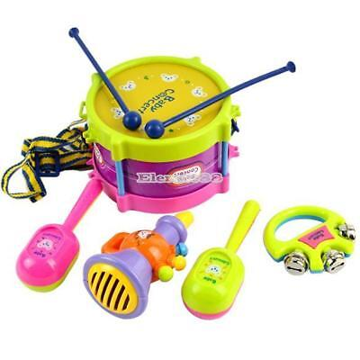 New 5pcs Roll Drum Musical Instruments Band Kit Kids Children Toy Gift ElR8 02