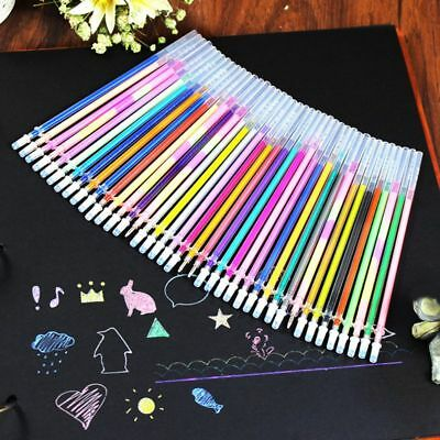 Color Refills Pastel Art Gel Pens Replace Children Drawing Painting 24/48 Colors