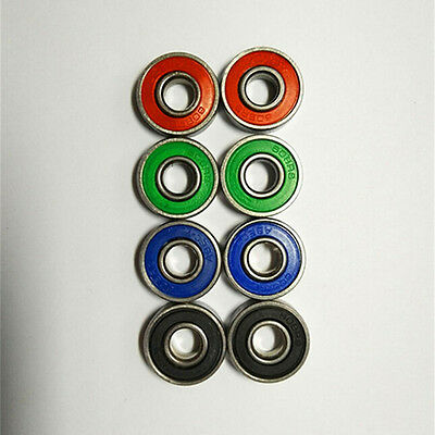 10pcs 608 8mmx22mmx7mm Double Rubber Sealing Cover Deep Groove Ball Bearing  LT