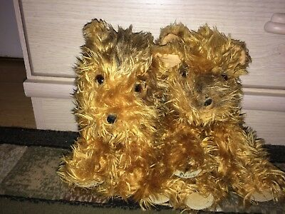 """*2003 Victoria's Secret Limited Edition Max & Lucy Puppy Dog Plush Set,both 9"""""""
