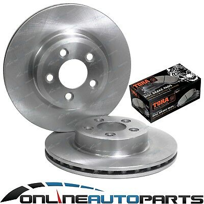 2 Front Disc Rotors + Brake Pads Kit Ford Falcon BF FG XR6T XR8 V8 (322mm Discs)