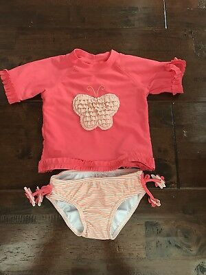 Baby girl 2-piece Swimmers With Togs & Rashie Size 3- 6 months 00 Target