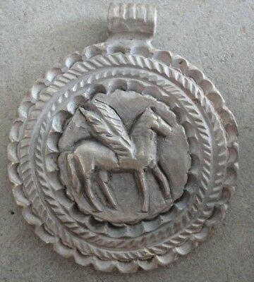 Ancient Roman Legionary Silver Pendant Medallion PEGASUS imperial army artifact