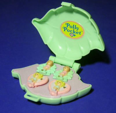 Polly Pocket Mini ♥ Polly´s Earring Case ♥ 100% complete ♥ 1991 ♥ Ohrclips ♥