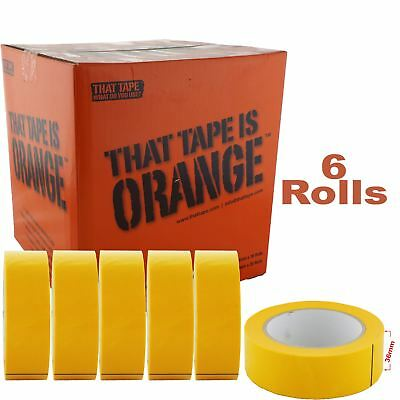 JTape 1125.3650 36mm x 50m 100°C Water-Proof Orange Fine Line / Masking Tape x6