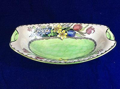 Maling Art Deco Hand Painted Lustre Bowl/Dish Vibrant Design Pattern 6524