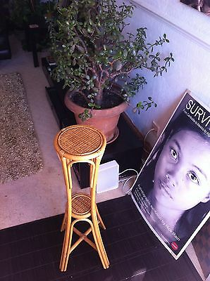 Vintage RETRO BAMBOO 60'S/70'S PLANT STAND HOLDER  PEDESTAL COOL MID CENTURY