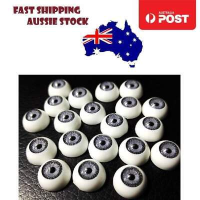 4 Pairs 12mm Doll Eyes GREY Eyeballs Round Plastic Teddy Bear Eye Crafts DIY