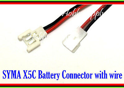 H31 H37 X5C H107 V939 X-Drone Walkera 2-Pin 2.0mm 1S 3.7V LiPO Battery Cable x 2