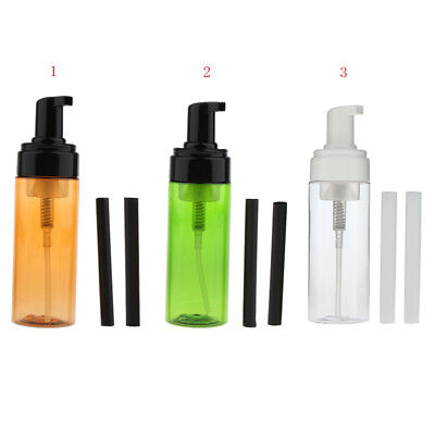 Foaming Hand Soap Dispenser Pump 5.3oz Refillable Hair Spray Bottle +Tubes