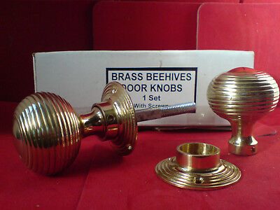 "Brass ""Beehive"" Door Knobs - 6 Sets for E125.00 inc Postage"