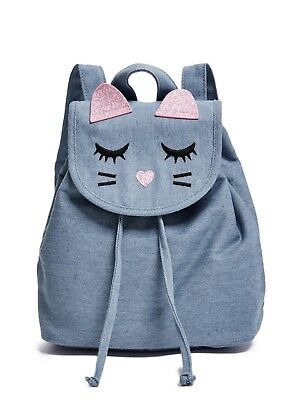 GUESS Factory Kids Girl's Denim Cat Backpack