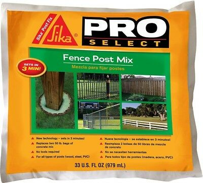 Sika 483503 Pro Select Fence Post Backfill, 33 Oz
