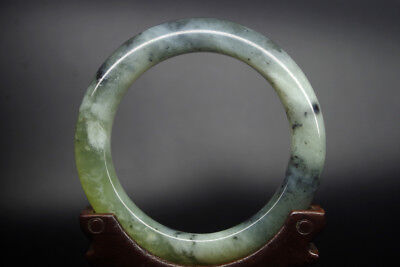 Collect old Chinese antique natural jade hand carved jade bracelet bangle YQ-216