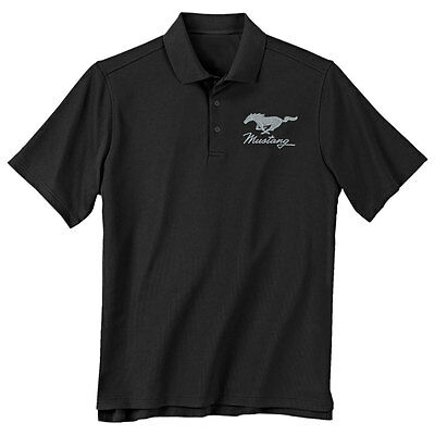Mustang Gifts X-Large Black Running Horse Polo | CJ Pony Parts