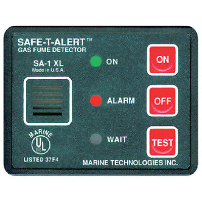 12 Volt Surface Mount Gas and Propane Fume Detector for Boats, RVs and More