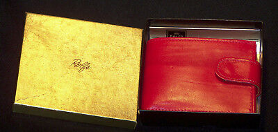 Vintage (1970's) Rolfs Lady Tanglewood Leather Wallet – Cherry Fizz - New in Box