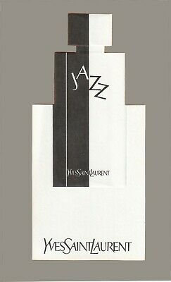 Belle carte publicitaire - advertising card  -   Jazz d'Yves Saint Laurent