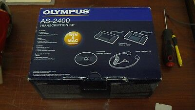New Open Box Olympus AS-2400 Transcription Kit Foot Switch & Stereo Headset