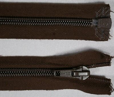 "21"" 53cm brown OPTI heavy duty metal slider OPEN END ended auto lock zips"