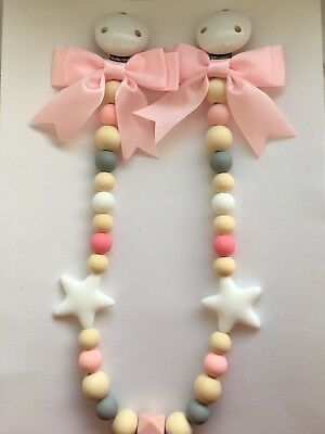 Pram Garland Wooden and Silicone Beads