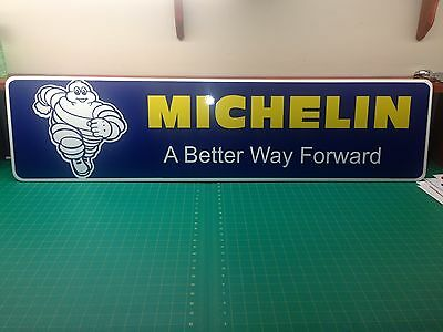 "Michelin PVC Sign 3/8 (10mm) thick  12"" x 48"""
