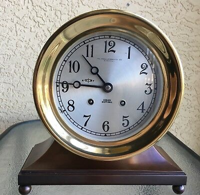 "Vintage Chelsea Commodore Ship's Bell Clock Ca. 1977 6"" Dial"