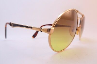 Vintage Bugatti sunglasses Size 56-18 135 tinted gradient lens made in France
