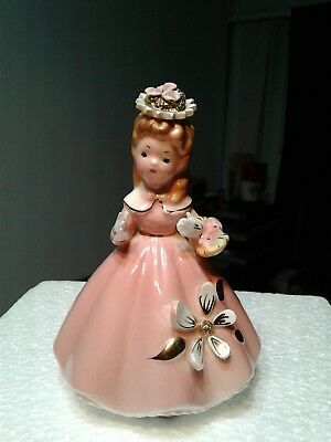 Vtg Josef Originals girl with flowers 4 in tall