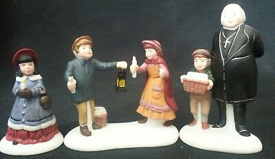 Dept Department 56 Dickens Village A Peaceful Glow on Christmas Eve NiB Set/3