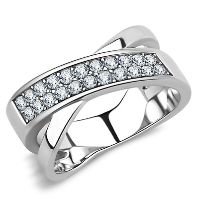 Women's Coctail AAA Grade Cubic Zircon CZ Stainless Ring 5-10 TK3436