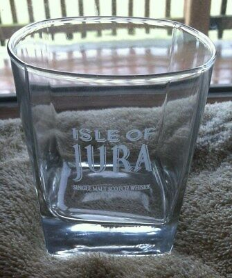 New Isle Of Jura Single Malt Scotch Whisky Etched Glass,Set of 4 Tumblers
