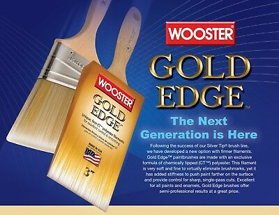 Wooster Brush 5231 Gold Edge Angle Sash Paintbrush