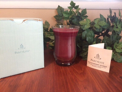 Partylite Mulberry Slim Hurricane 16.9 oz Jar Candle VERY RARE - NEW