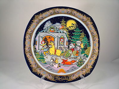 Rosenthal Bjorn Wiinblad Christmas Carol Plate Jingle Bells 1984 Mint!