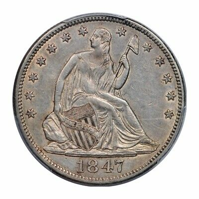1847 50C WB-101 Liberty Seated Half Dollar PCGS AU 50 About Uncirculated